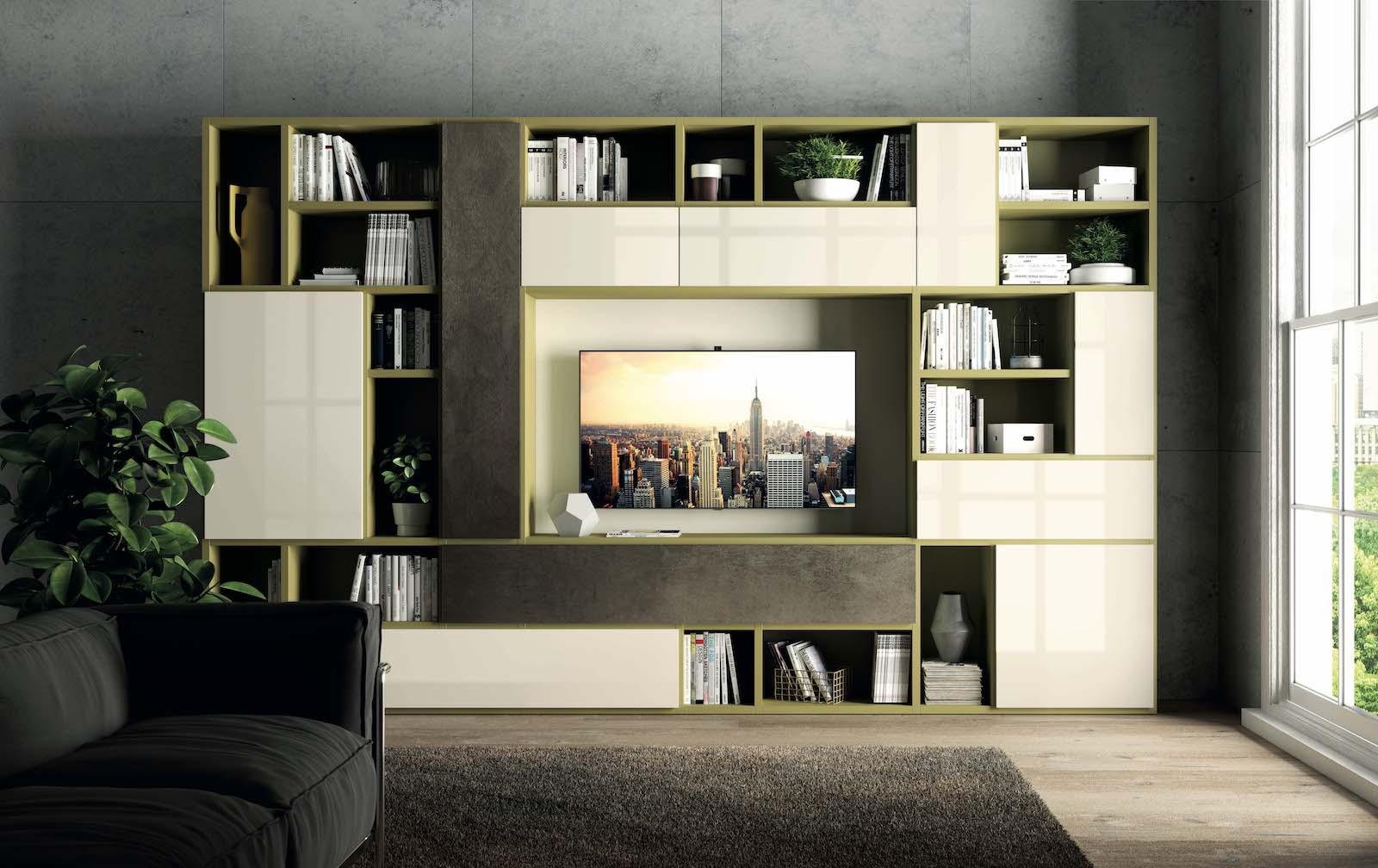 Pareti attrezzate franzese arredamenti - Immagini mobili soggiorno ...