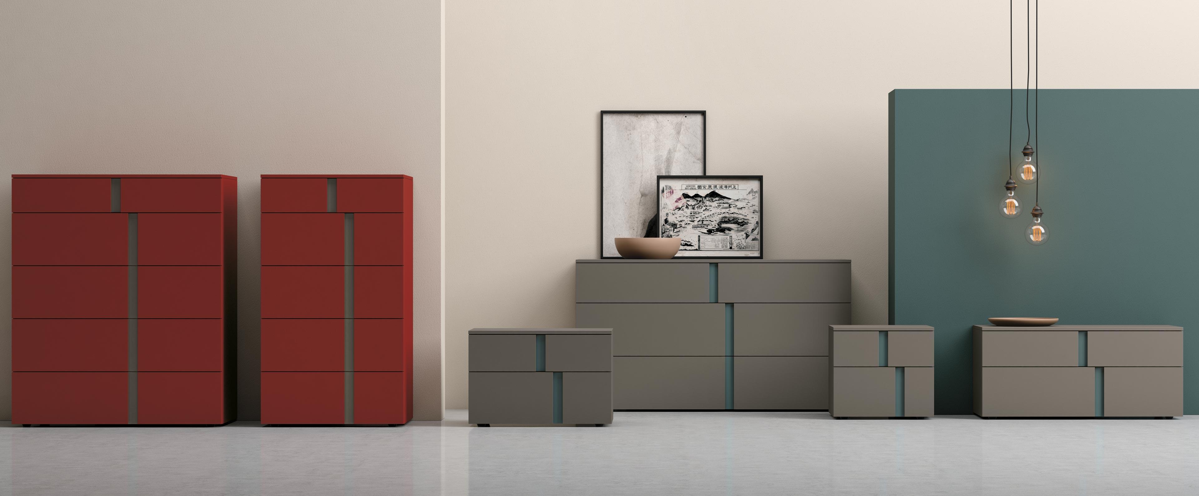 Mobili contenitori per la camera da letto athena franzese arredamenti - Tinta per camera da letto ...