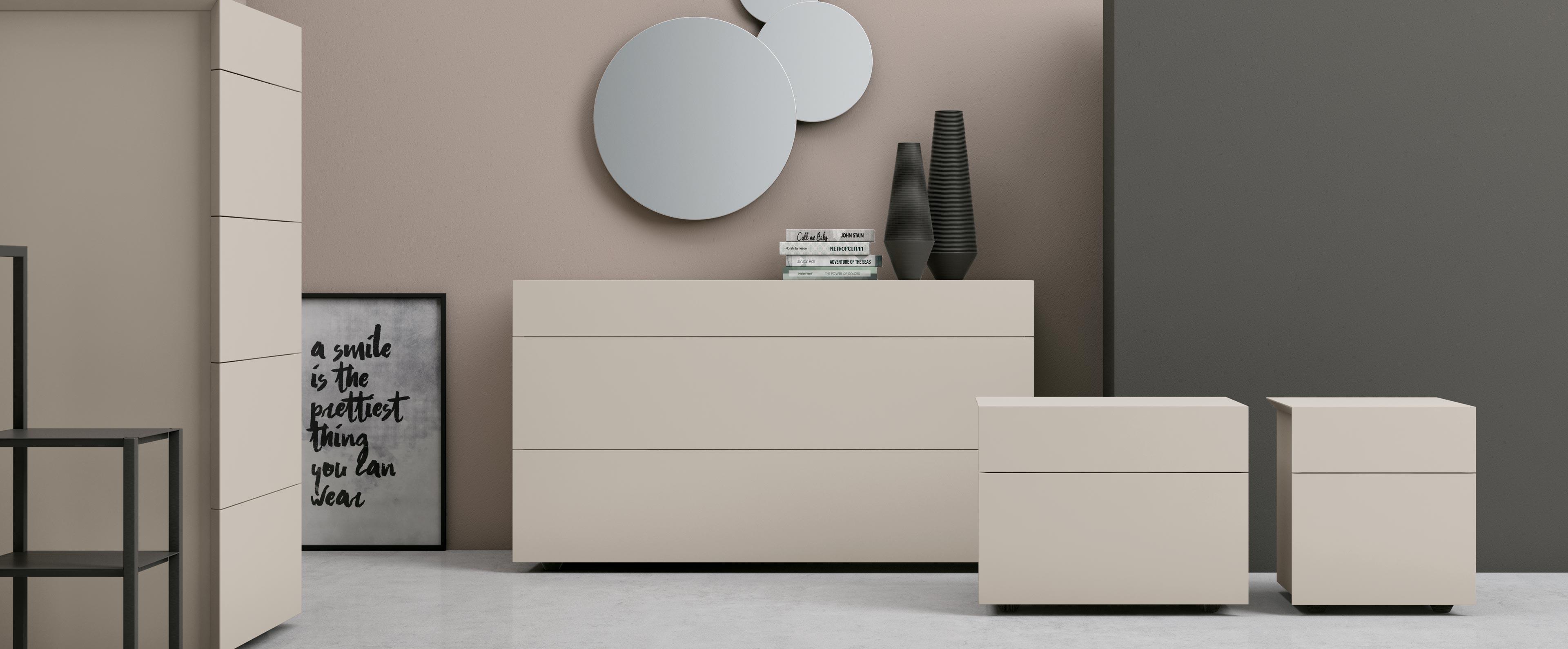 Mobili contenitori per la camera da letto pass franzese arredamenti - Tinta per camera da letto ...